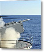 A Rim-7 Sea Sparrow Is Launched Metal Print