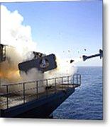 A Rim-7 Sea Sparrow Missile Launches Metal Print