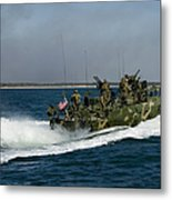 A Riverine Command Boat During Exercise Metal Print