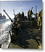A Riverine Squadron Conducts Security Metal Print