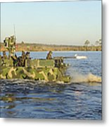 A Riverine Squadron Maneuvers Metal Print