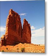 A Rock At Arches Metal Print