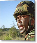 A Royal Brunei Land Force Soldier Metal Print by Stocktrek Images