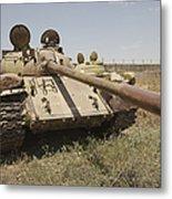 A Russian T-55 Main Battle Tank Metal Print