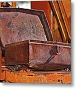 A Rusy Toolbox Metal Print