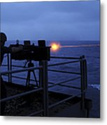 A Sailor Fires A .50-caliber Machine Metal Print