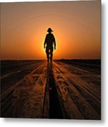 A Sailor Walks The Catapults Metal Print