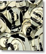 A Scattering Of Zebras Metal Print