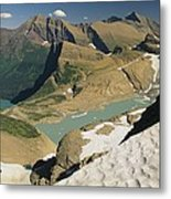 A Scenic View Of Lakes In Glacier Metal Print