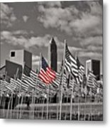A Sea Of #flags During #marineweek Metal Print by Pete Michaud