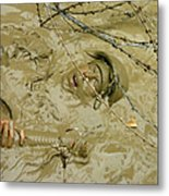 A Seabee Emerges From Muddy Water Metal Print by Stocktrek Images