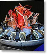 A Seafood Orgy Metal Print