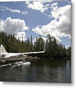 A Seaplane Taking Off From Vancouver Metal Print