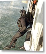 A Search And Rescue Swimmer Student Metal Print