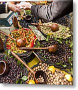 A Selection Of Olives Sit Metal Print