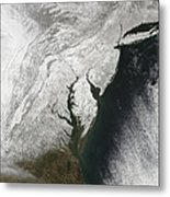 A Severe Winter Storm Along The United Metal Print
