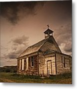 A Simple Wooden Church Metal Print