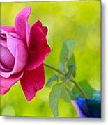 A Single Rose Metal Print