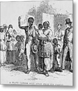 A Slave Father Sold Away Metal Print by Everett