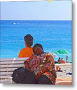 A Snooze At The Beach II Metal Print