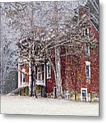 A Snowy Night Metal Print by Kathy Jennings