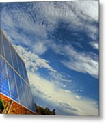 A Solar Panel In The Desert Of South Metal Print