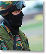 A Soldier Of The Special Forces Group Metal Print by Luc De Jaeger