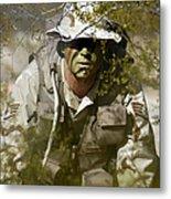 A Soldier Practices Evasion Maneuvers Metal Print
