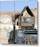 A Soldiier Instructs An Iraqi Army Metal Print