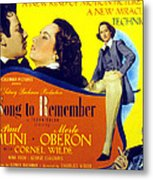 A Song To Remember, Cornel Wilde, Merle Metal Print