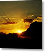 A Southwest Sunrise  Metal Print