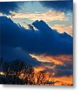 A Spring Sunset Metal Print