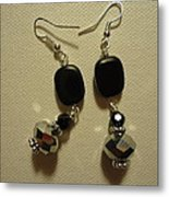A Square With Sparkle Earrings Metal Print