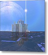 A Star Shines On Alien Architecture Metal Print