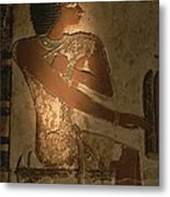 A Stone Relief Depicts A Member Metal Print