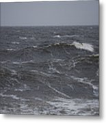 A Storm Lashed Hudsons Bay In Autumn Metal Print