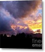 A Storm Rolls In From The West 29 Metal Print
