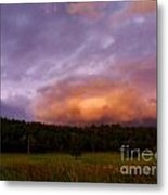 A Storm Rolls In From The West 40 Metal Print