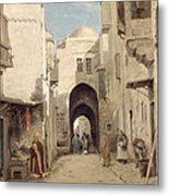 A Street In Jerusalem Metal Print