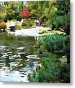 A Stroll In Peace And Tranquility Metal Print