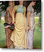 A Summer Shower Metal Print by Charles Edward Perugini