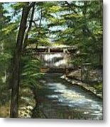 A Summer Walk Along The Creek  Metal Print