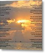 A Sunset A Poem - Victor Hugo Metal Print