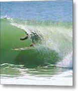 A Surfer Shoots The Curl Metal Print