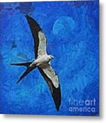 A Swallow And The Moon Metal Print