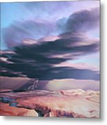A Swift Moving Thunderstorm Moves Metal Print