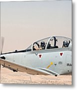 A T-6 Texan Flying Over Camp Speicher Metal Print