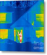A Thermogram Of A Person Waving In House Metal Print