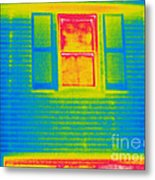 A Thermogram Of A Window Metal Print