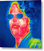 A Thermogram Of A Woman With Glasses Metal Print